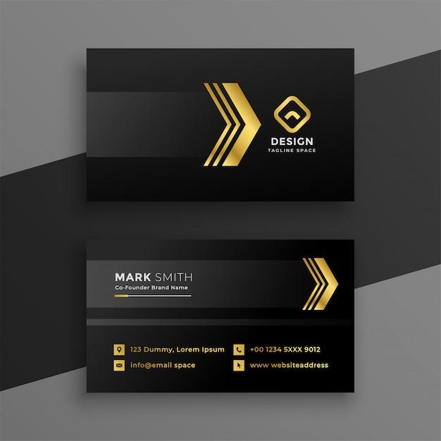 Design de cartão de visita escuro de luxo Vetor grátis