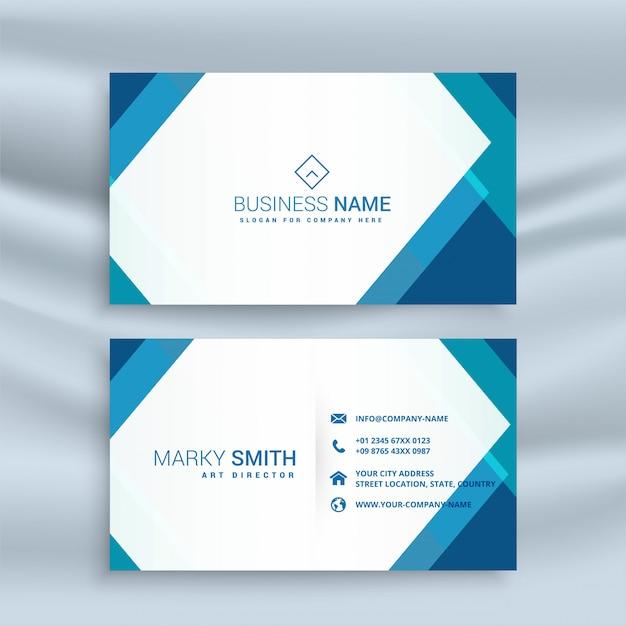 Design de cartão de visita geométrico azul profissional Vetor grátis