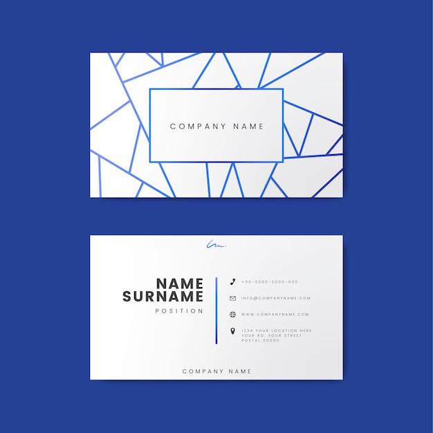 Design de cartão de visita minimalista e moderno criativo com formas geométricas Vetor grátis
