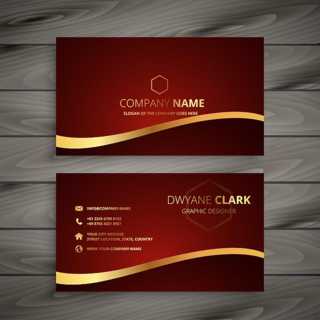 Design de cartão dourado luxo vermelho Vetor grátis