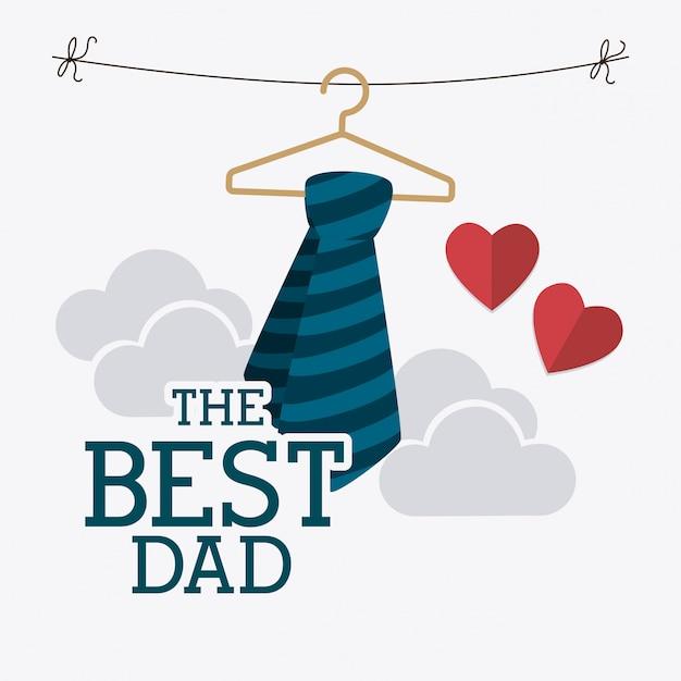 Design de cartão feliz dia dos pais. Vetor Premium