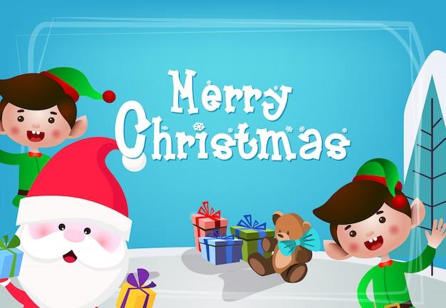 Design de cartão festivo de natal Vetor grátis