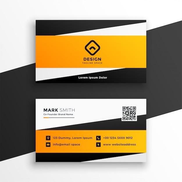 Design de cartão geométrico amarelo abstrato Vetor grátis