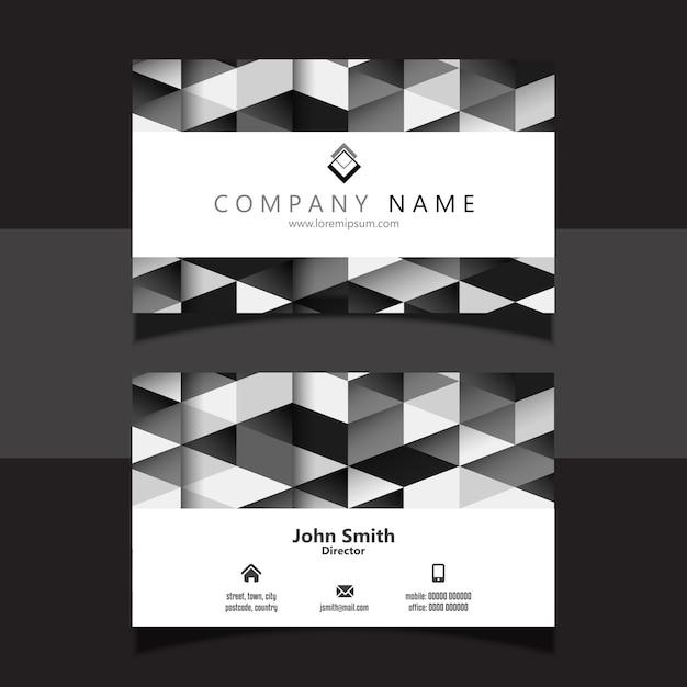 Design de cartão geométrico Vetor grátis