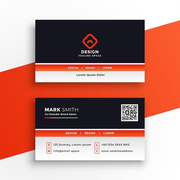 Design de cartão laranja profissional elegante Vetor grátis