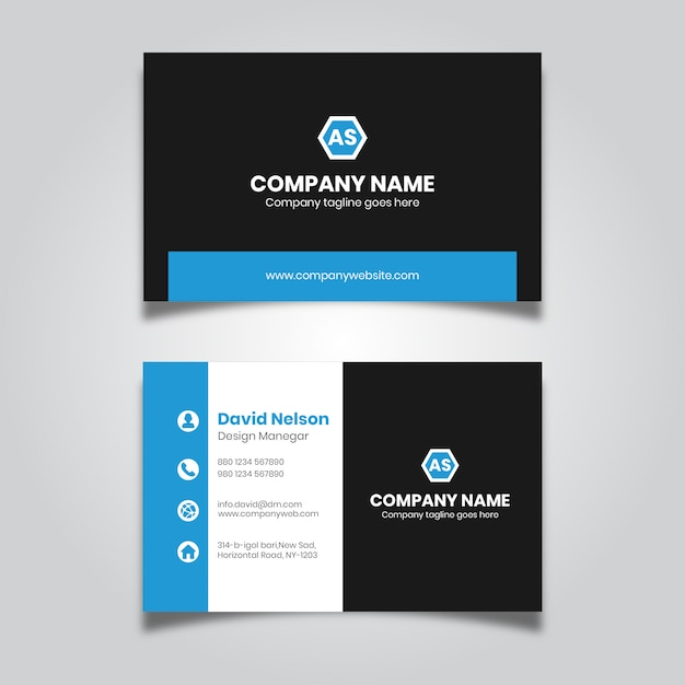 Design de cartão moderno para empresa Vetor Premium