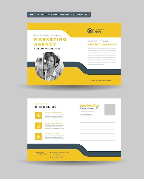 Design de cartão postal corporativo Vetor Premium