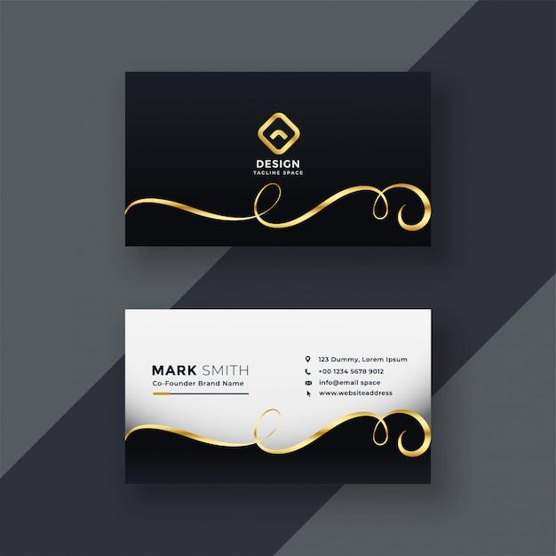 Design de cartão premium em tema escuro Vetor grátis