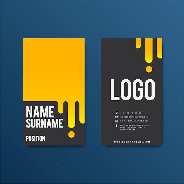 Design de cartão retro moderno criativo Vetor grátis