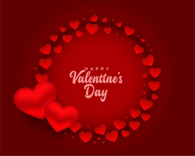 Design de cartão romântico vermelho feliz dia dos namorados Vetor grátis
