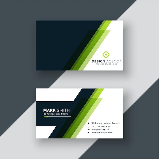 Design de cartão verde geométrico Vetor grátis