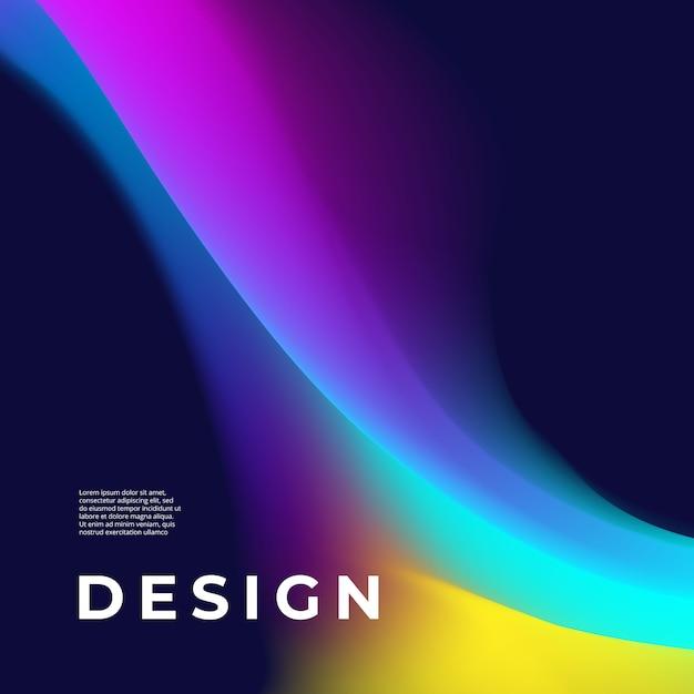 Design de cartaz com forma abstrata Vetor Premium