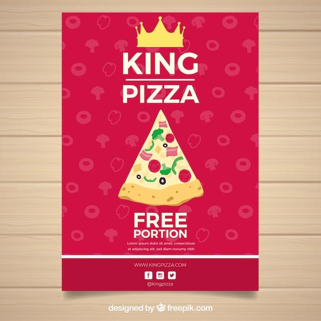 Design de cartaz de pizza Vetor grátis
