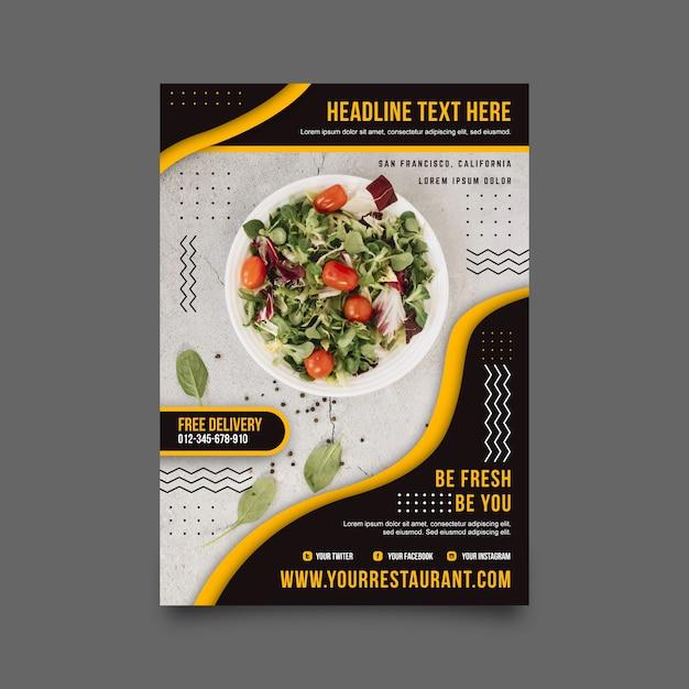 Design de cartaz de restaurante de comida saudável Vetor grátis