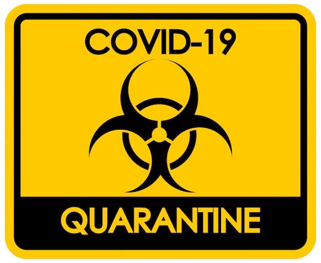 Design de cartaz para tema de coronavírus com sinal de risco biológico Vetor grátis