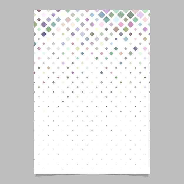 Design de cartaz quadrado abstrato Vetor Premium