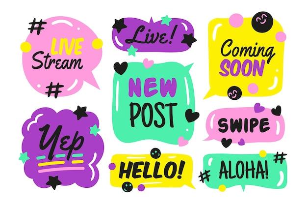 Design de cenário de bolha de gíria de mídia social Vetor grátis
