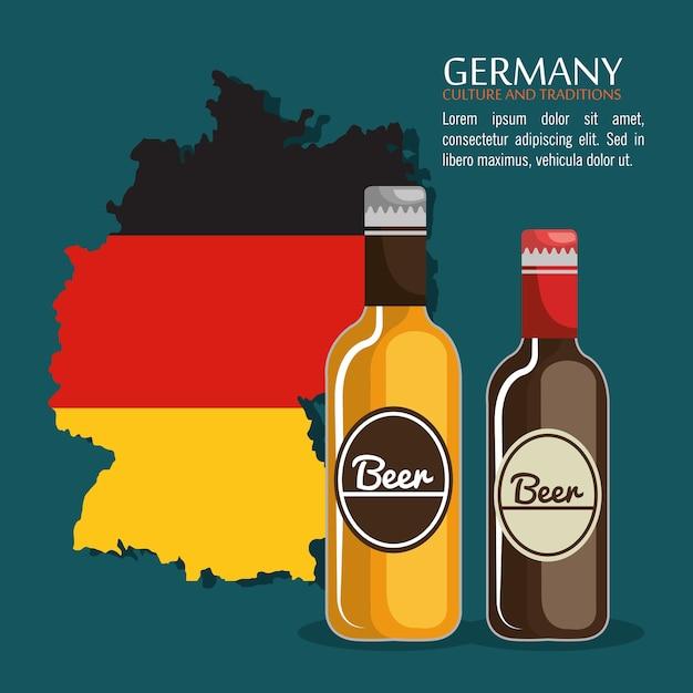 Design de cerveja alemanha Vetor Premium
