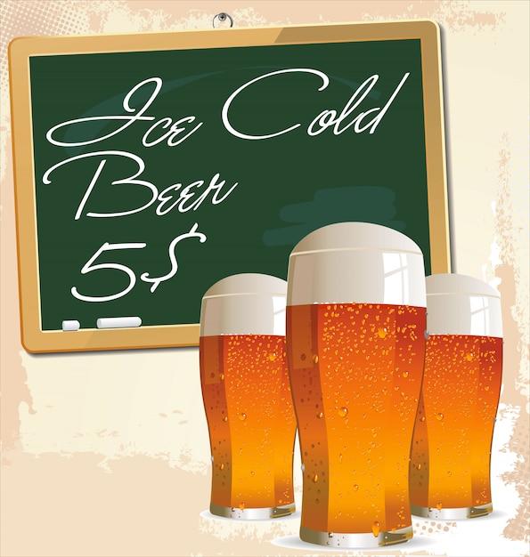 Design de cerveja Vetor Premium