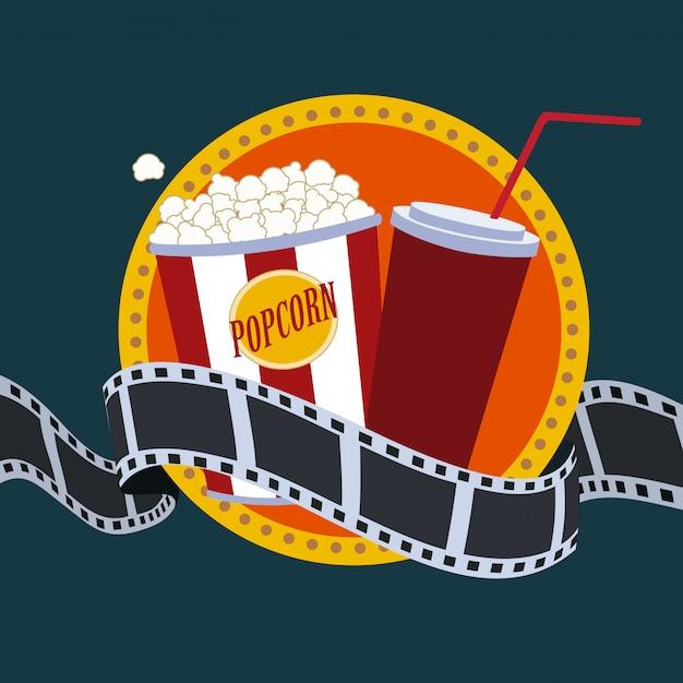 Design de cinema Vetor Premium