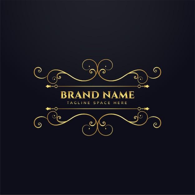 Design de conceito de logotipo real de marca de luxo Vetor grátis