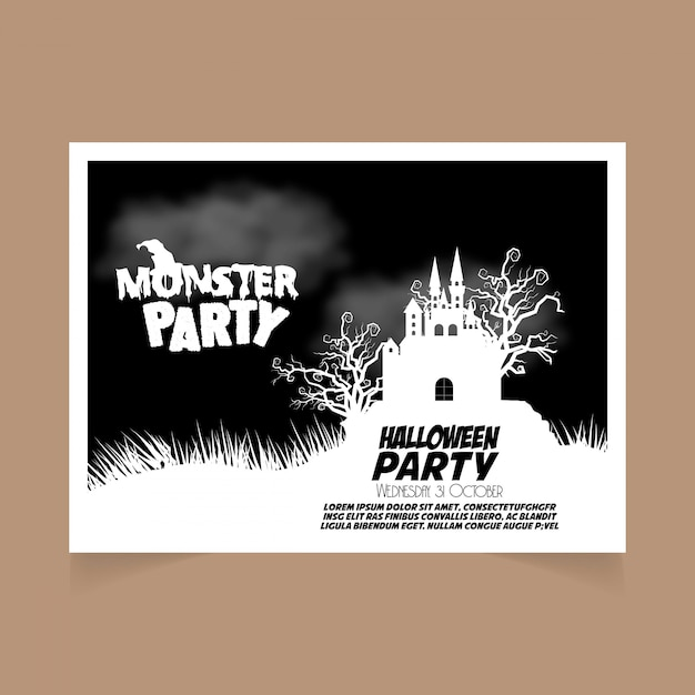 Design de convite de festa de halloween Vetor grátis