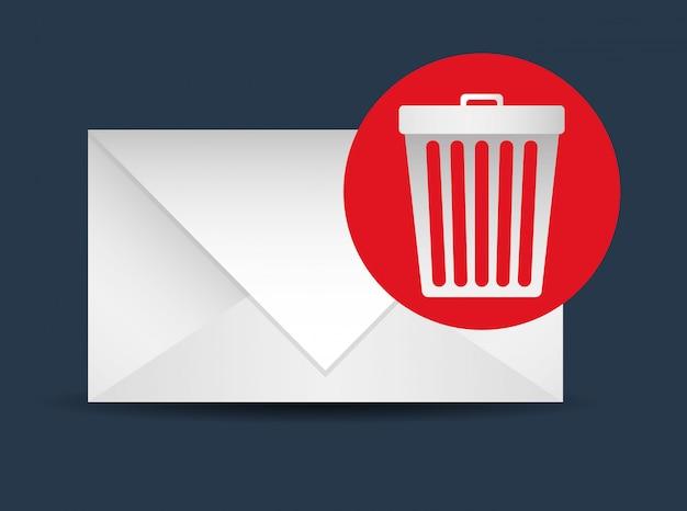 Design de correio Vetor Premium