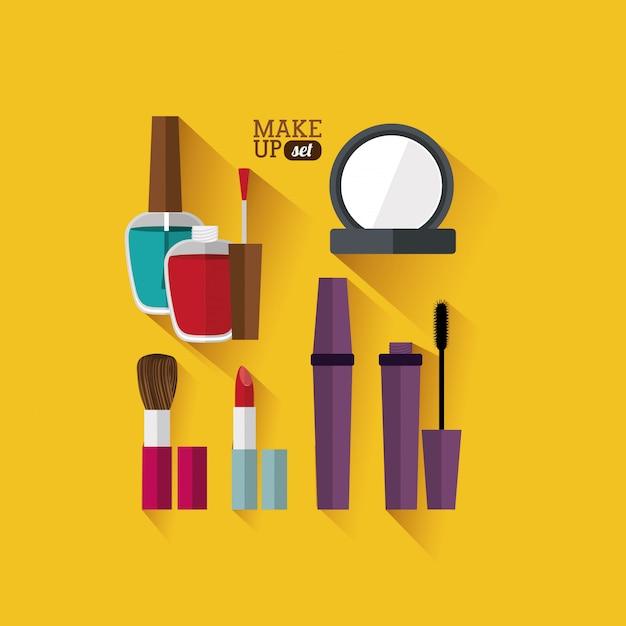 Design de cosméticos Vetor Premium