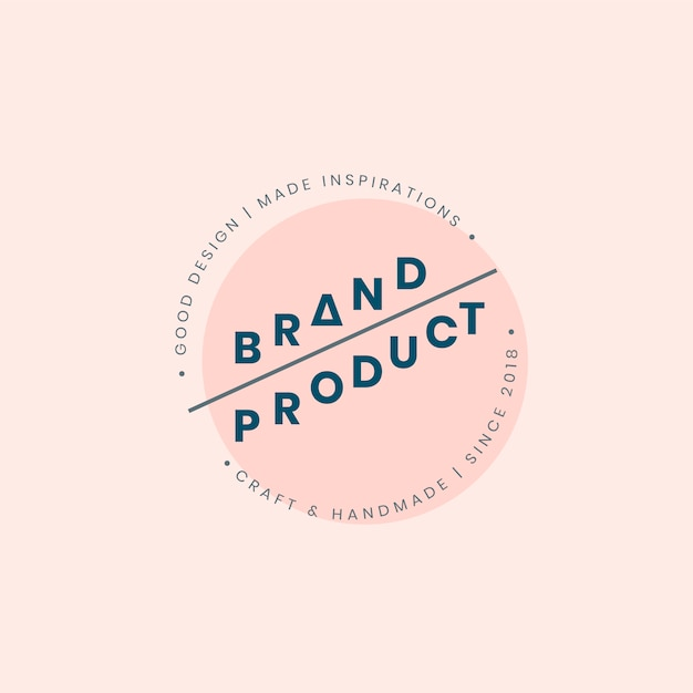 Design de crachá de logotipo de produto de marca Vetor grátis