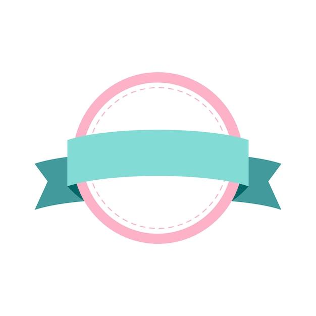 Design de crachá de quadro pastel Vetor grátis