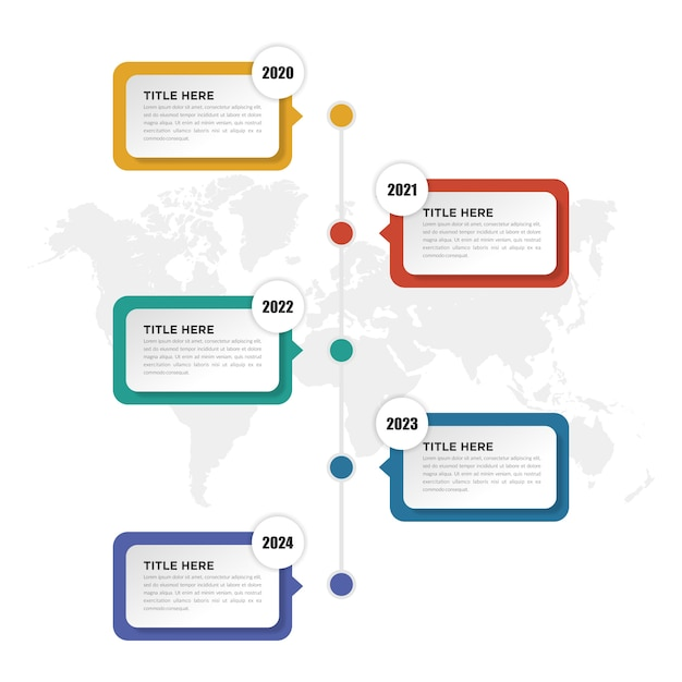 Design de cronograma de infográfico de negócios Vetor Premium