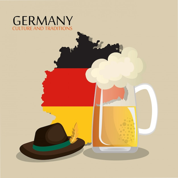 Design de cultura alemã Vetor grátis