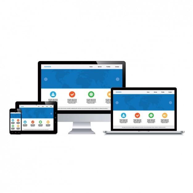Design de dispositivos web Vetor grátis
