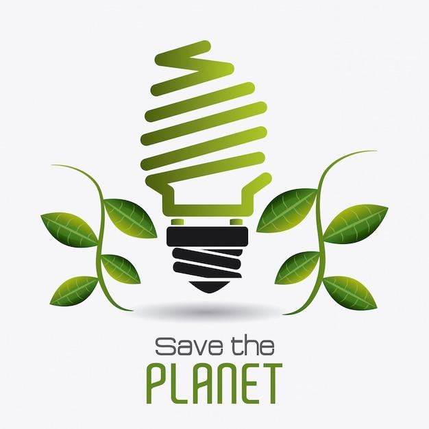 Design de ecologia. Vetor Premium