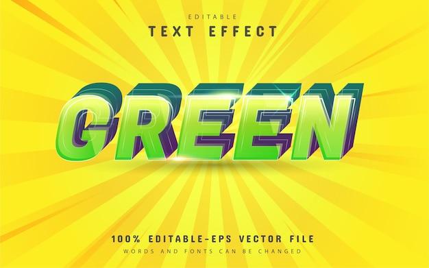 Design de efeito de texto verde Vetor Premium