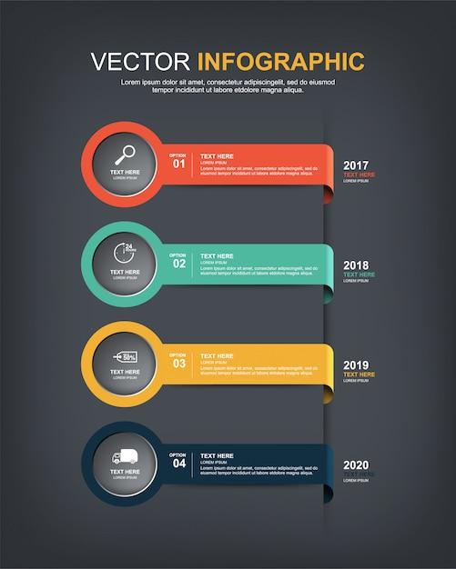 Design de elementos infográfico Vetor Premium