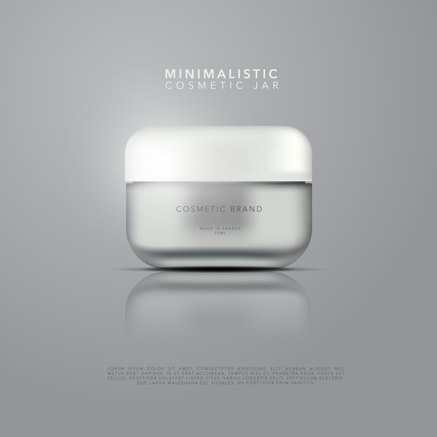 Design de embalagens cosméticas Vetor Premium