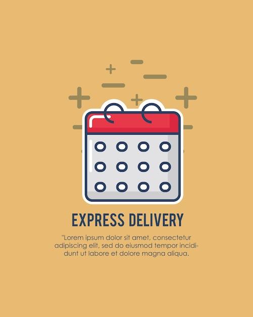 Design de entrega expressa Vetor Premium