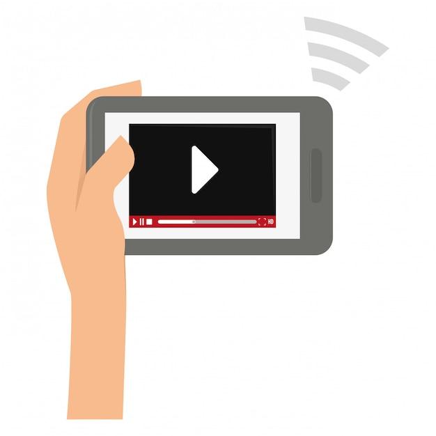 Design de entretenimento e tecnologia Vetor Premium