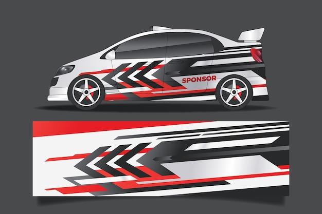 Design de envoltório de carro esportivo Vetor grátis