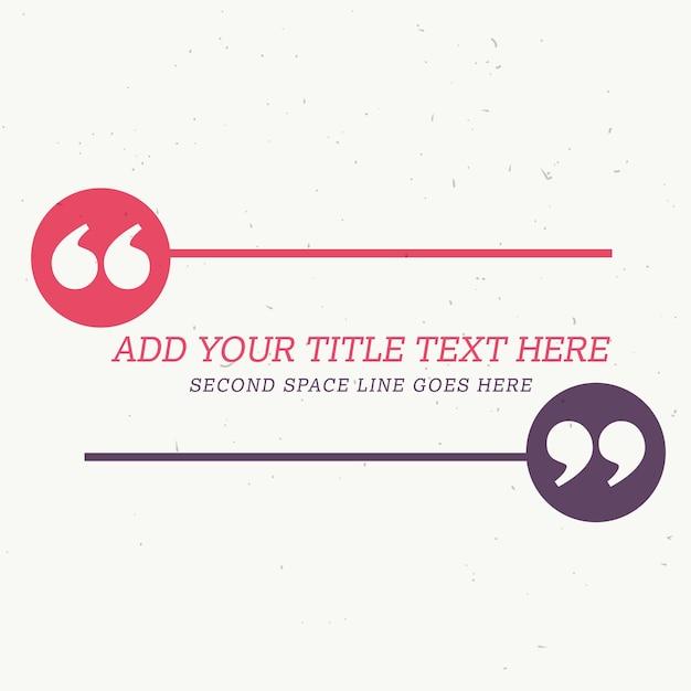 Design de estilo depoimento com espaço para sua mensagem Vetor grátis