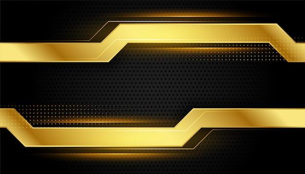 Design de estilo geométrico dourado e preto brilhante Vetor grátis