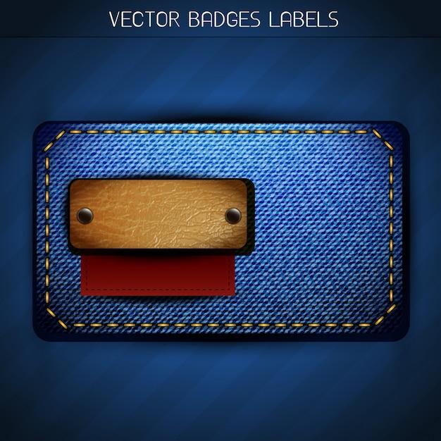Design de etiqueta de design de jeans Vetor grátis