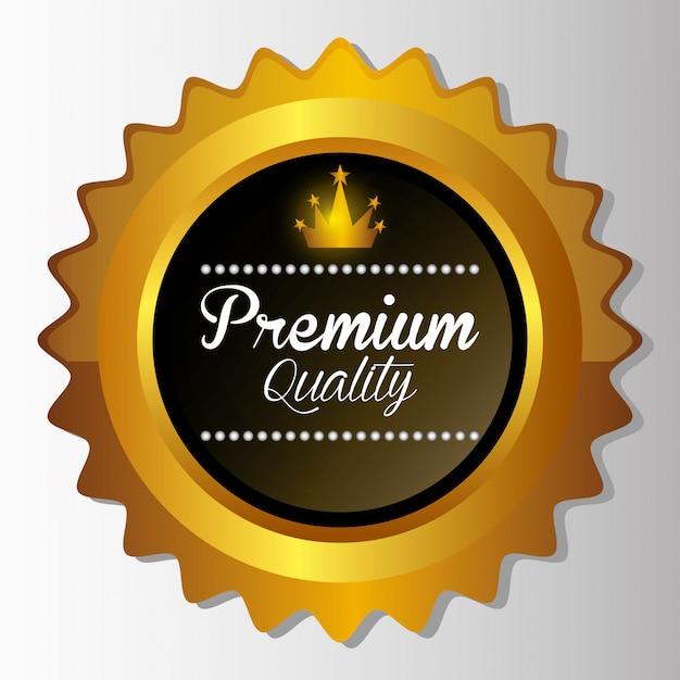 Design de etiqueta de qualidade premium. Vetor Premium
