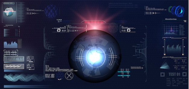 Design de exibição de cabeça de vr futurista Vetor Premium