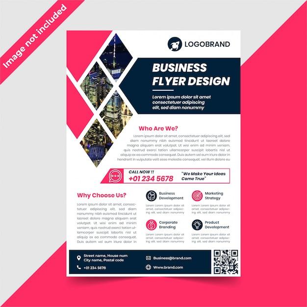 Design de folheto corporativo Vetor Premium