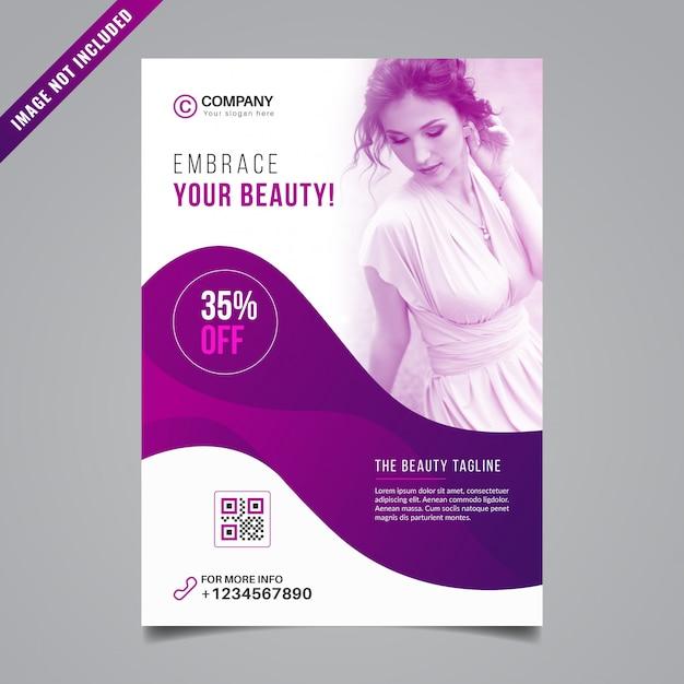 Design de folheto de beleza Vetor Premium