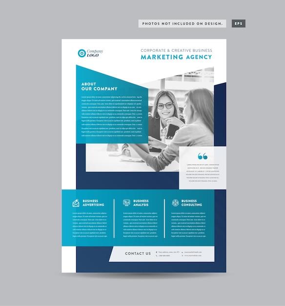Design de folheto de negócios corporativos Vetor Premium