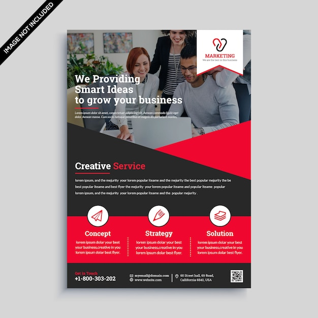 Design de folheto de negócios criativos Vetor Premium