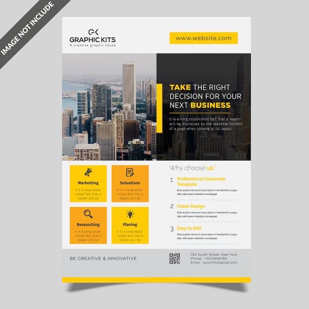 Design de folheto de negócios Vetor Premium